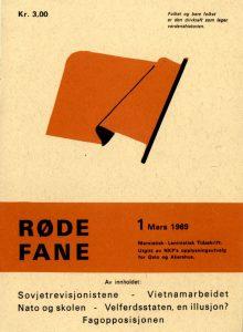 Forside av første utgave av Røde Fane/Gnist