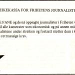 Streikekassa for Frihetens journalister